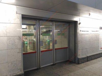 Противопожарная автоматическая штора (преграда) Fireshield-EI60 в ТПУ Площадь Гагарина
